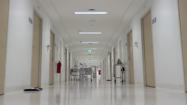 hospital corridor. - entrata video stock e b–roll