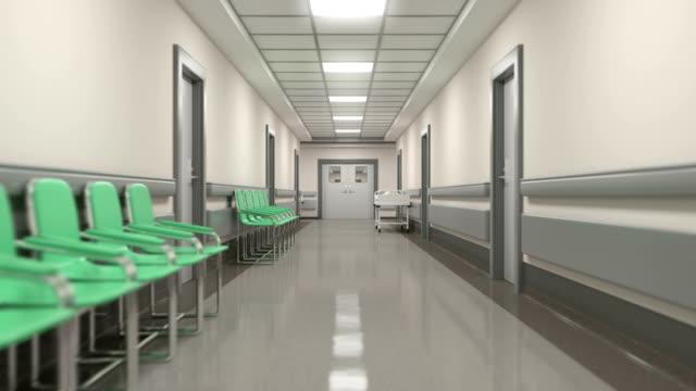 sjukhuskorridor, besökare, promenader genom salarna. - ultra high definition television bildbanksvideor och videomaterial från bakom kulisserna