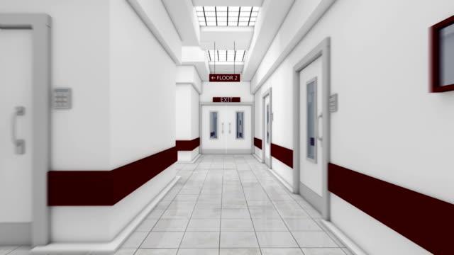 Hospital door open with green screen HD Animation video