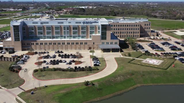 Hospital Near a Freeway, College Station, Texas, USA Hospital Near a Freeway, College Station, Texas, USA medical building stock videos & royalty-free footage