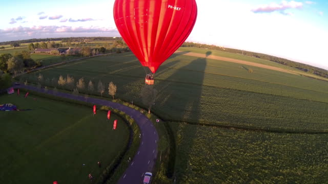 Hot air ballon fly past video