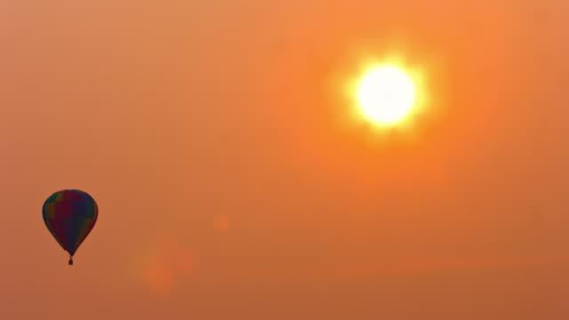 Hot Air Balloon at dawn video