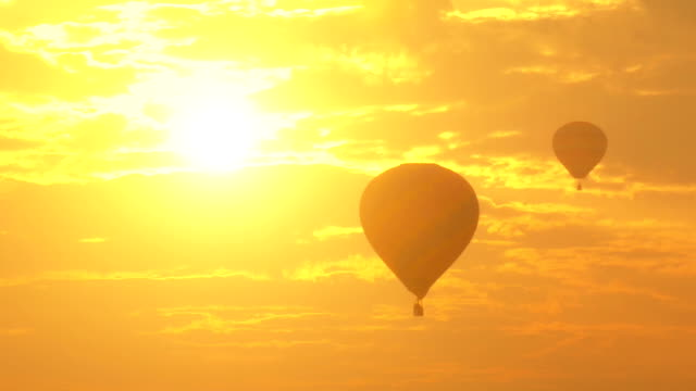 Hot Air Balloon at sunset. video