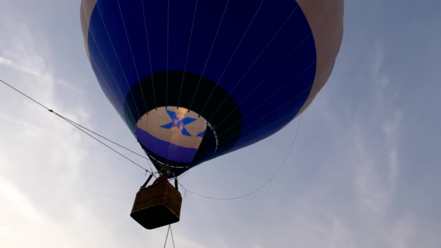 hot air balloon blue burner close up - vivid 4k video stock videos & royalty-free footage