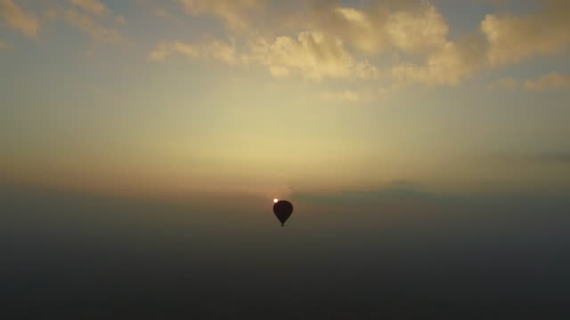 Hot Air Balloon flight at sunrise video