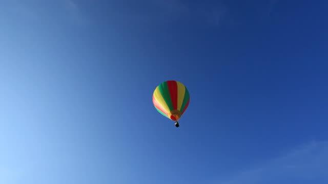 Hot Air Balloon flying away video
