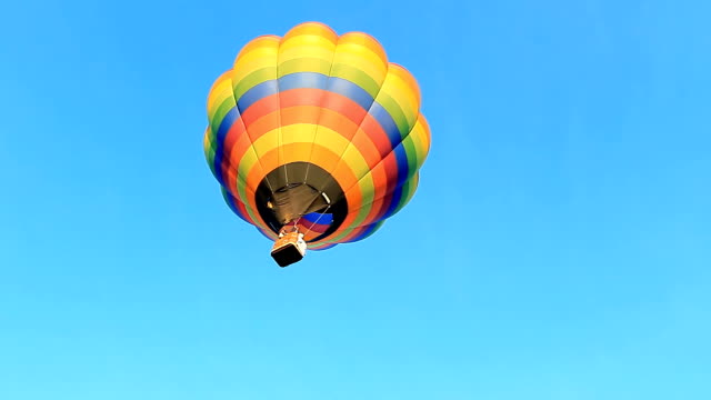 Hot Air Balloon flying video