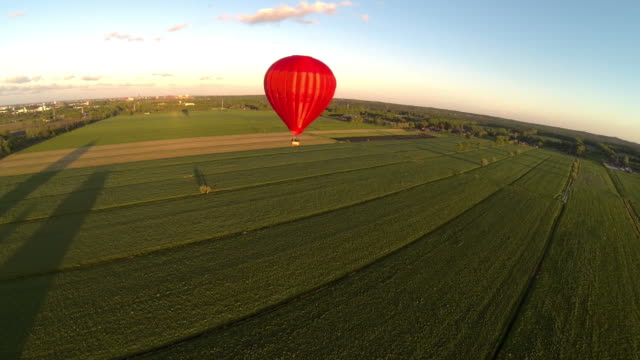 Hot air balloon in flight video