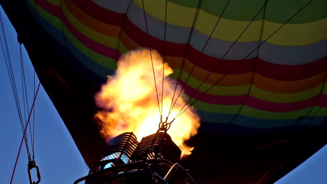 Hot Air Balloon Inflating video
