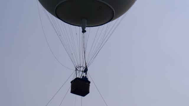 hot air balloon white close up - vivid 4k video stock videos & royalty-free footage