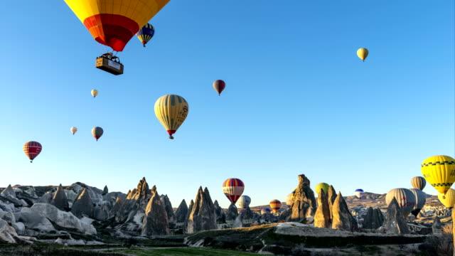 Hot Air Balloons Flying in Cappadocia, Turkey video