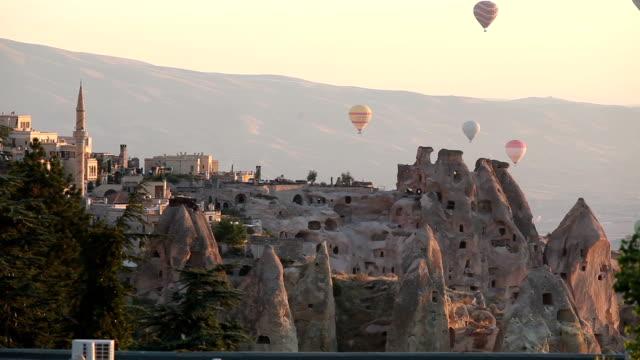 Hot Air Balloons In Cappadocia,Turkey video