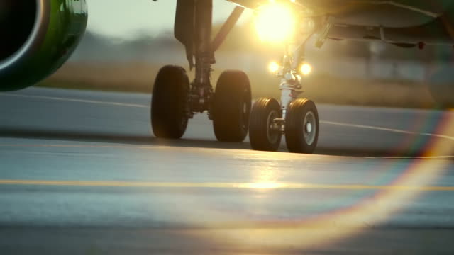 Hot air behind the aircraft engine. video