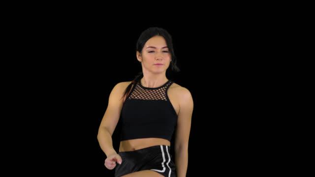 Hot b-girl dancing, Alpha Channel