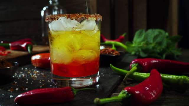 Hot chili pepper drink video