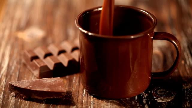 vídeos de stock, filmes e b-roll de chocolate quente - chocolate quente