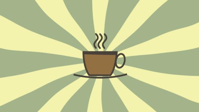 stockvideo's en b-roll-footage met hot coffee consumption animation, high definition - onaangename geur