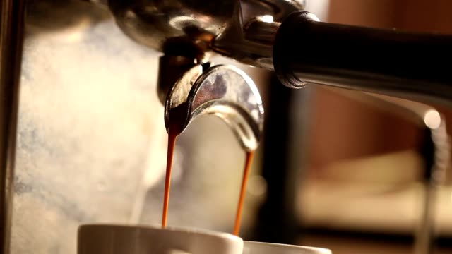 Hot coffee cup, A cup of fragrant espresso, close-up video