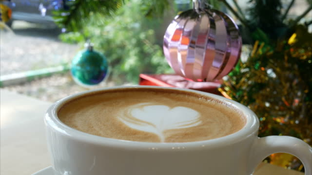 hot coffee in Christmas time