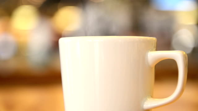 Hot cup in a restaurant video
