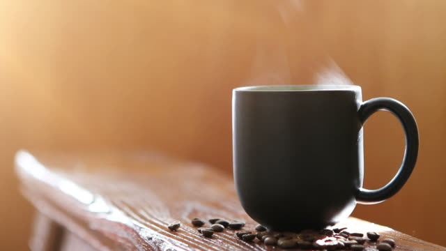 Hot Cup of Coffee  mug stock videos & royalty-free footage