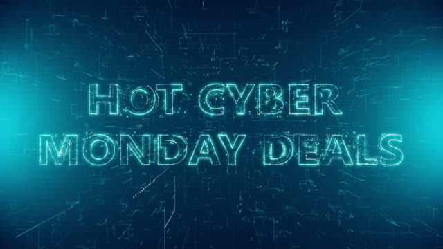 Hot Cyber Monday Deals Text, Capital Letter, Single Word, Symbol. Hot Cyber Monday Deals cyber monday stock videos & royalty-free footage