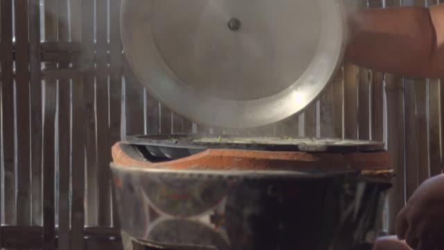 Hot Dessert Steam On Stove