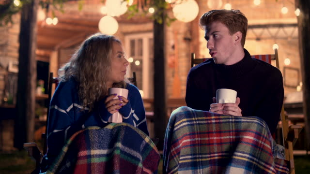 hot drink and perfect date in this cold nights - date night stock videos & royalty-free footage