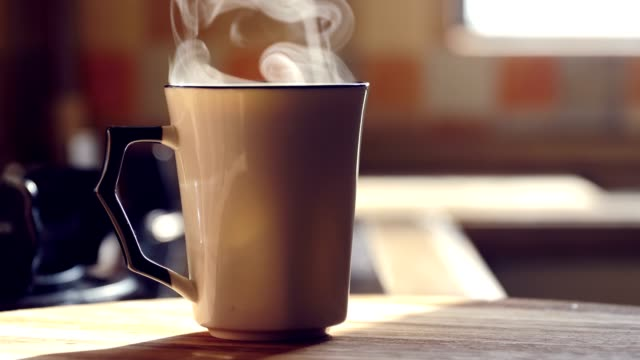 hot drink steaming - tea cup stock videos & royalty-free footage