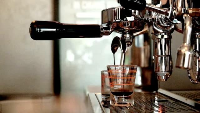 hot espresso coffee, coffee machine video
