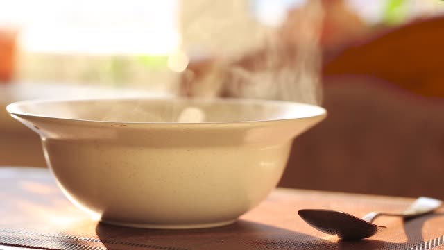hot soup in a plate video