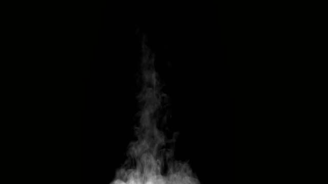 Hot Steam on a Black Background White Steam rises from a large pot that is behind the scenes. Black background. Filmed at a speed of 120fps steam stock videos & royalty-free footage