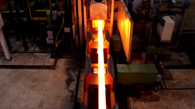 Hot steel on conveyor video