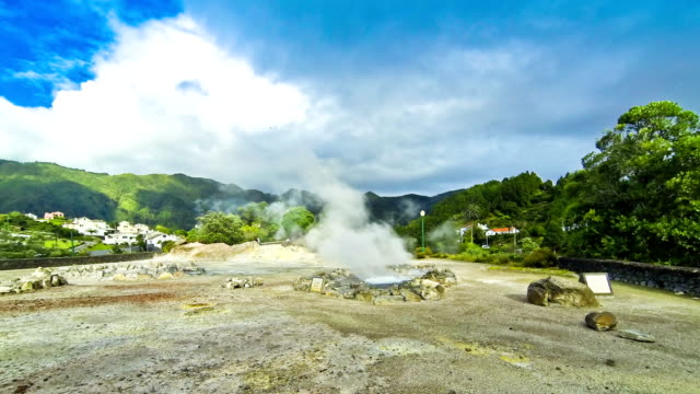 Hot thermal springs on Sao Miguel island, Azores, Portugal video
