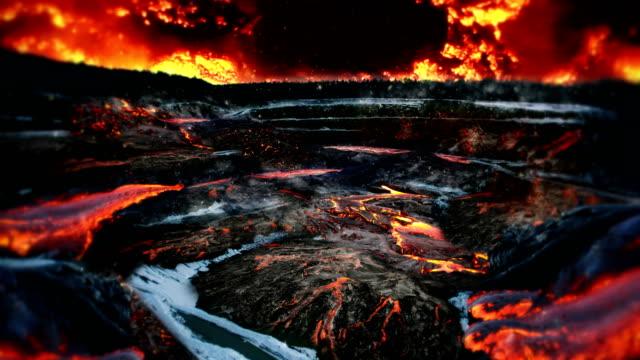 hot vulcano scenery video