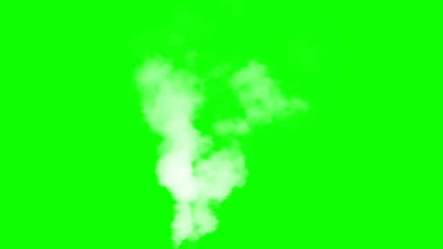 Hot White Smoke Stream White vapor or smoke slowly rises upwards gradually dissolving. Excellent for simulating smoking pipes. For example, geysers, steam locomotives or steamers, etc. steam stock videos & royalty-free footage