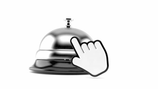 Hotel bell with cursor video