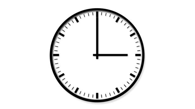 vidéos et rushes de horloge 24 heures sur 24 - cadran