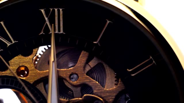 Hour dial from Roman numerals, ticking hands of hours video