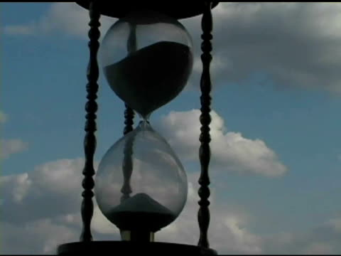 Hour Glass with Clouds Time Lapse 3 video