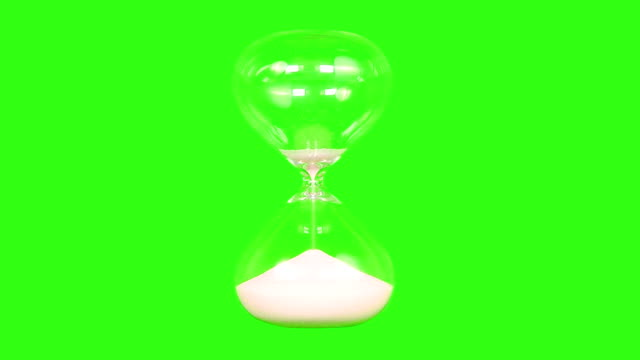 Hour Glass With Green Screen Background video
