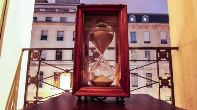 Hourglass At Sunset Time Lapse Paris France video