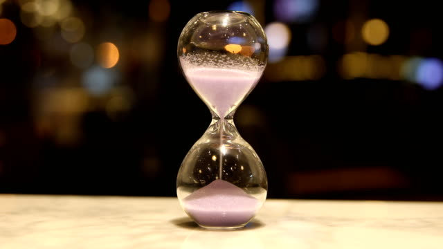 Hourglass clock Hourglass clock hourglass stock videos & royalty-free footage