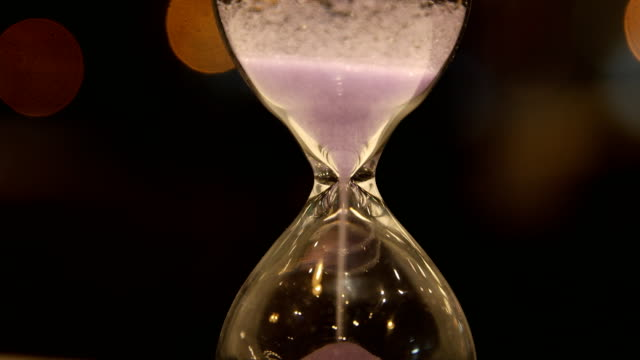 Hourglass clock video