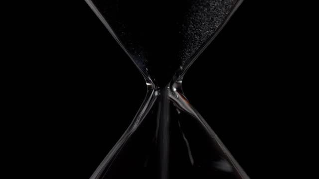 Hourglass closeup video