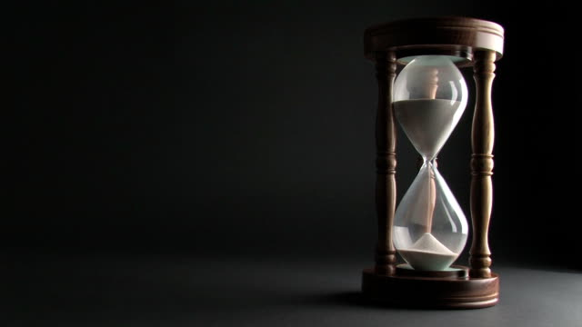 Hourglass On Black Background video