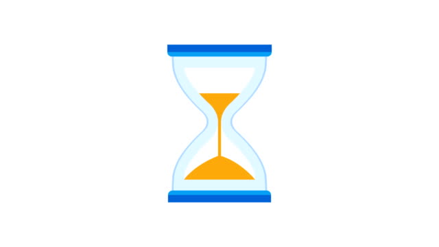 Hourglass, Sand Timer, Or Sand Clock Measuring Time And Turning Upside Down Hourglass timer clock measuring time and rotating upside down, hourglass stock videos & royalty-free footage