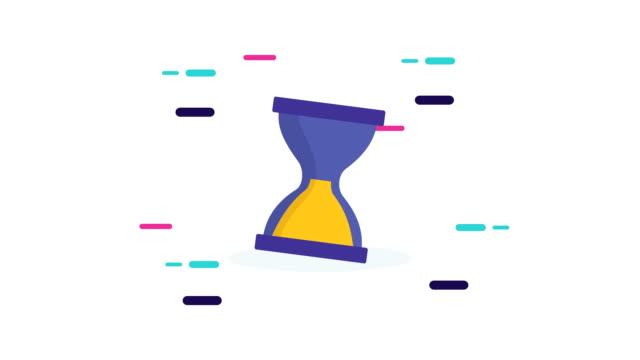 hourglass time counter animation icon