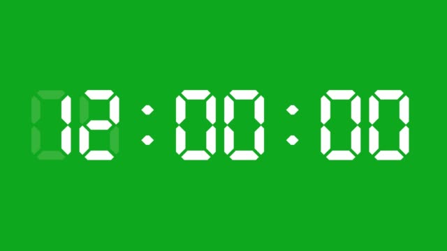24 hours digital clock animation. You can stop at the beginning of every hour. Simple led twenty four numbers. Time counter symbol and countdown stock video. You can use it as minute, second and milliseconds.