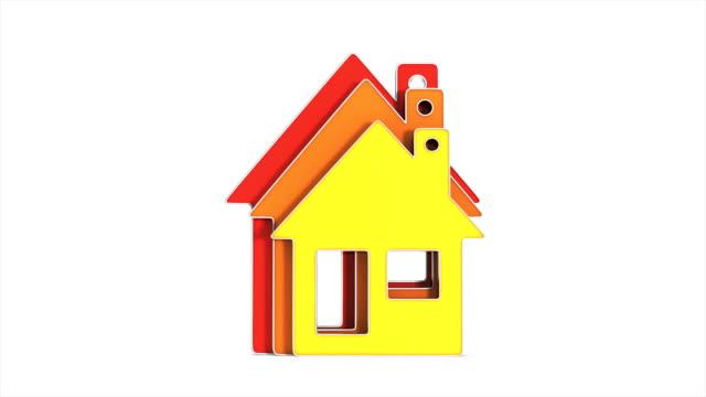 house and energy saving on white background. Isolated 3D illustration